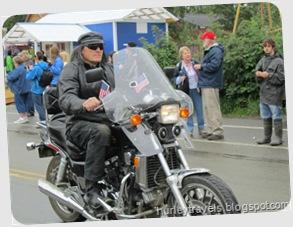 Nancy's escort for the parade, Talkeetna, AK