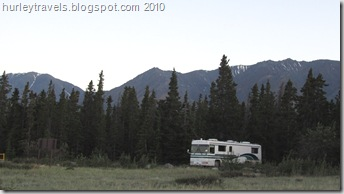 Spot No. 1 at the Congdon Campground on Kluane Lake gave us a great view of the lake and was very private.