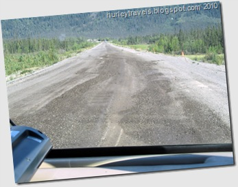 Thawing of the frozen ground in the Alaska Highway roadbed causes frost heaves.  These have actually had some repairs to them. Slowing down is not optional along this highway.