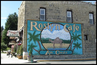 Roslyn Cafe in the town of Cicely, Alaska, was a symbol for Northern Exposure.  Today, Sept. 2, 2010, people ate their lunch as they lived, or just visited, in Roslyn, Washington.