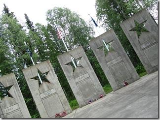 Alaska Veterans Memorial along the Parks Highway.