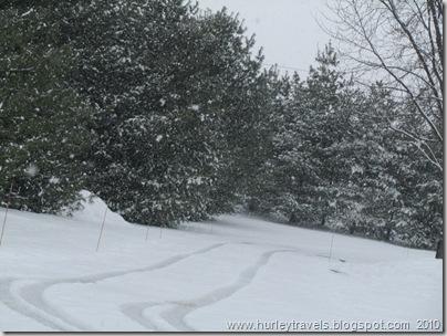 Winter wonderland in Fishers, Indiana.