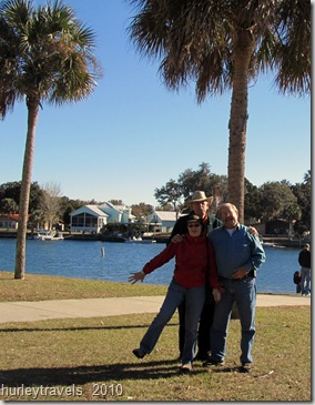 Bonnie, Joe and Jerry in Crystal River, Florida, on a sunny, crisp day.