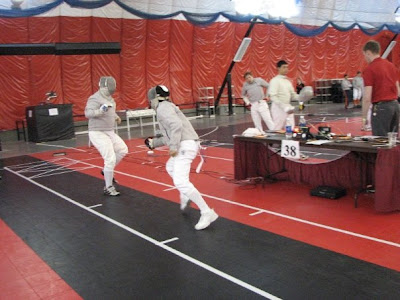 Roozbeh fencing in Nationals 2009