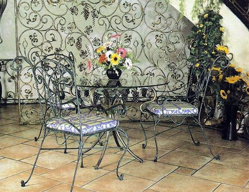 Mẫu bộ sản phẩm bàn & ghế sắt mỹ thuật - BG-076