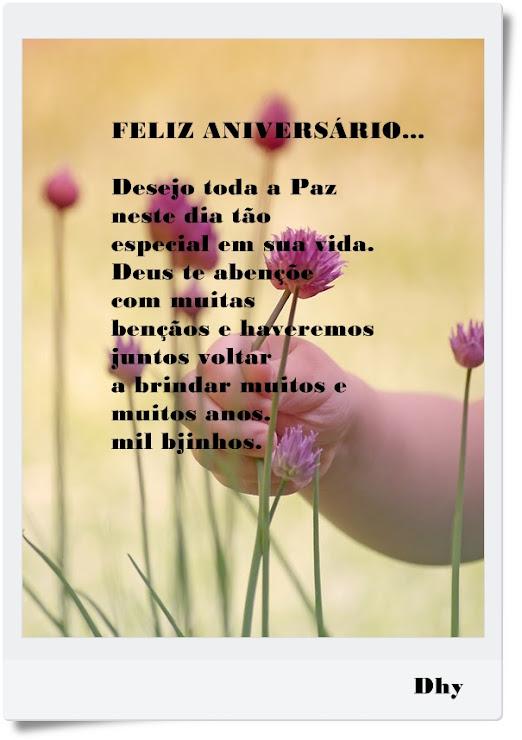 Feliz aniversário Desejo toda a paz neste dia tão