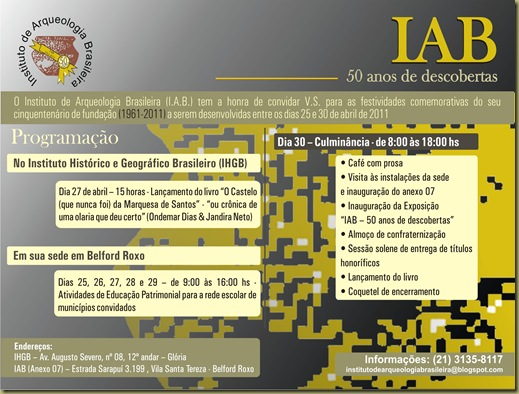 Convite IAB 50 anos