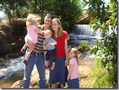 Jeremy, Esther and kids at Chapada