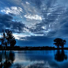 Sunset on the magical lake Lajmir.. by Željko Salai - Landscapes Sunsets & Sunrises