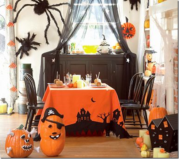 This southern girls nest for Halloween decorations to make at home for kids