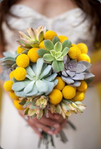 la-partie-events-yellow-textured-bouquet stoneblossom