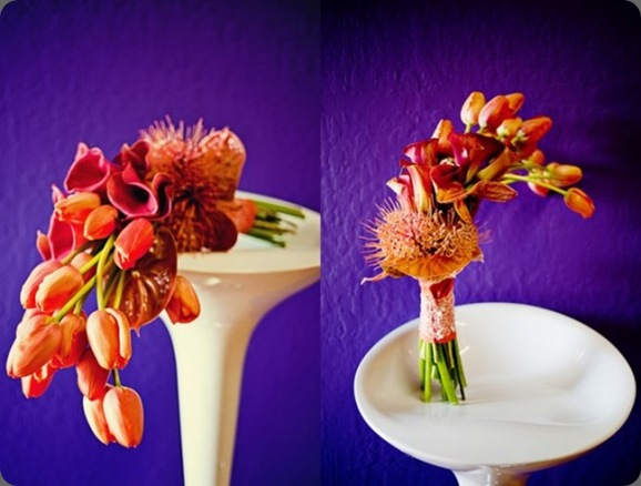 orange-tulip-bouquet-purple-orange-wedding-580x435 the sweetest occasion and flourish designs