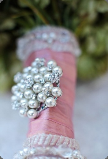 Brooch on Wedding Bouquet cori cook floral design