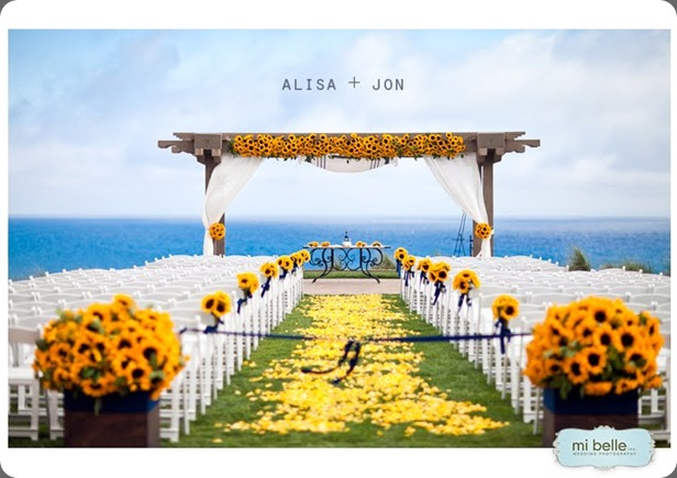 SunflowerWedding the hidden garden and mi belle photo