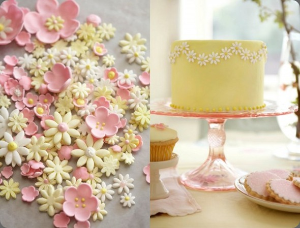 pink-yellow-gumpaste-sugar-flowers-yellow-wedding-cake-pink-cake-stand.jpg-580x435 the sweetest occasion and cakewalk