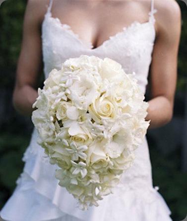 White-teardrop-bouquet bollea.com and hilary miles flowers ltd.