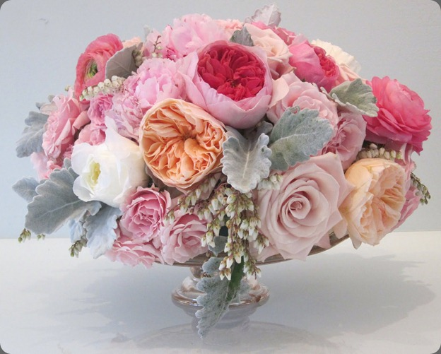 cakestand blush floral design