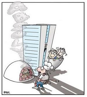 imagem  com pizzaiolos fazendo pizzas no congresso nacional em brasília