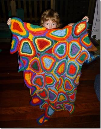 15 heart blanket