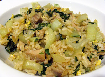 Adventures of Valley Writer: Chicken & Bok Choy Fried Rice