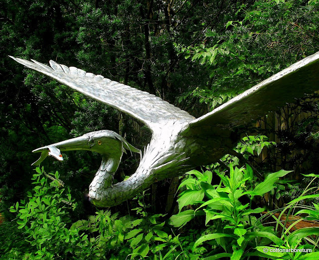Life size Great Blue Heron by Walter Leff