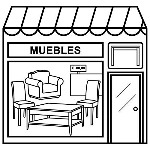 Laminas de tiendas para pintar y jugar for Dibujar muebles