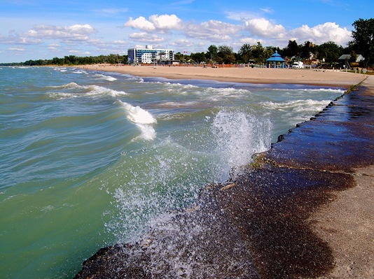 A LOOK AT GRAND BEND FROM THE PIER