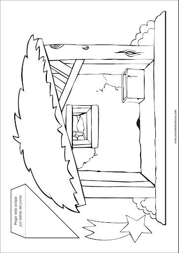 Para Imprimir O Descargar PORTAL DE BELEN PARA RECORTAR Y PINTAR Haga Click  Sobre El Dibujo. Cuando Se Haya Ampliado PORTAL DE BELEN PARA RECORTAR Y  PINTAR ...