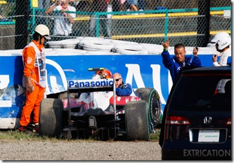 Timo Glock crash