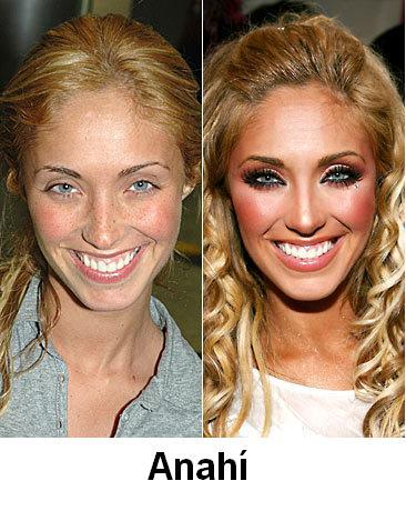 avril lavigne no makeup. anahi without makeup.