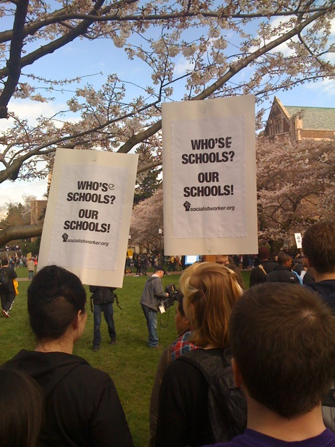 Protest at University of Washington