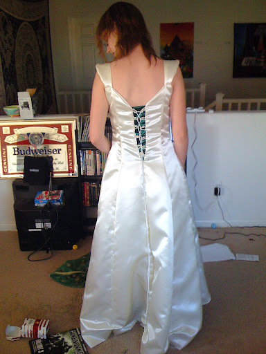 Top Bridal Gown Back View