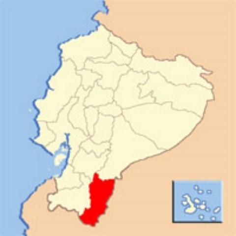 Ubicacion de la Provincia de Zamora Chinchipe