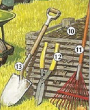 Picture dictionary gardening tools and home supplies for Gardening tools dictionary