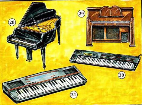 MUSICAL%20INSTRUMENTS 6 Musical Instruments things english through pictures