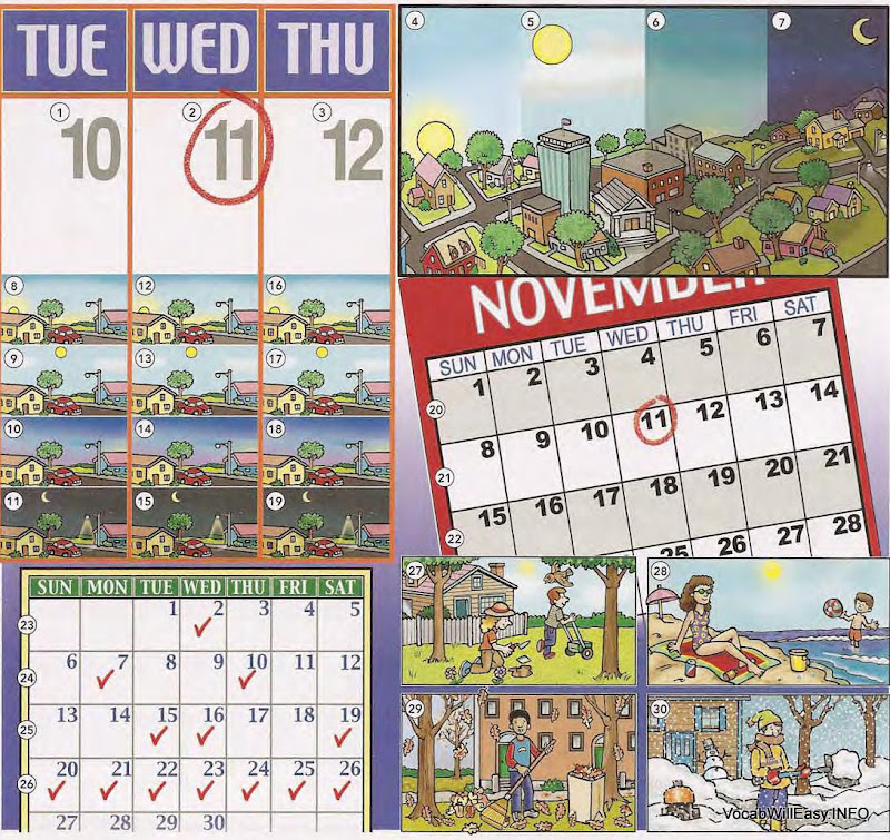 seasons 1 <!  :en  >THE CALENDAR: Year, Months, Seasons, Time<!  :  > dictionary children