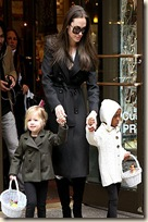 angelina_jolie black trench coat new york city