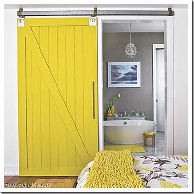 porta amarela - Belle Maison