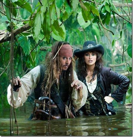 ภาพการถ่ายทำจากภาพยนตร์ Pirates of the Caribbean: On Stranger Tides