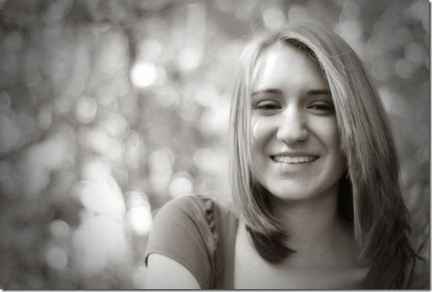 Rachel bw closeup