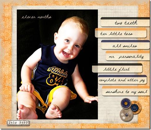 Isaac Eleven Months