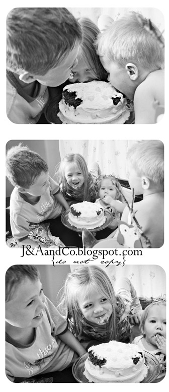Kids in Cake Collage CR