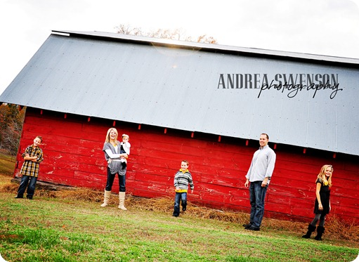 Family in front of barn cr