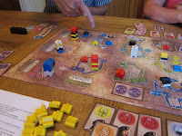The Patrician board, towers and cards
