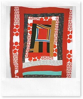 "Loretta Pettway,  ""Housetop"" variation, 2003 Cotton and cotton blends Overall: 89 1/2 x 71 in.  Mount: 70 1/2 in. (EX.2006.GB.03)"
