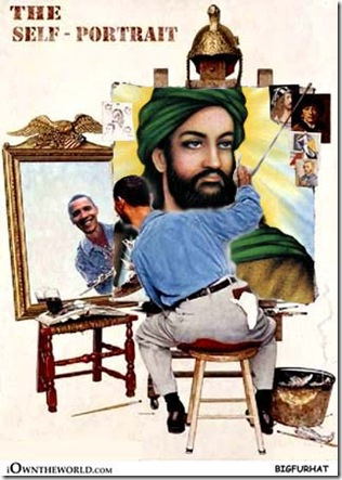 Obama self portrait