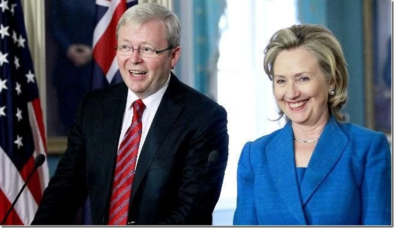 Copy of 18 9 2010 Kevin Rudd promises Hillary Clinton 'a really good time' in Australia