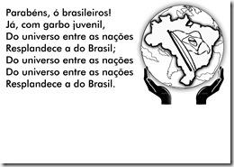 9_ Parabéns, ó brasileiros, Já com garbo...