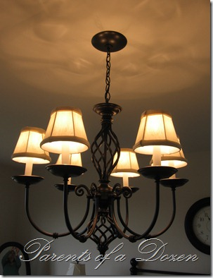 Parents of a dozen chandelier redo we put this one in a master bedroom which gives the room a finished complete look aloadofball Images