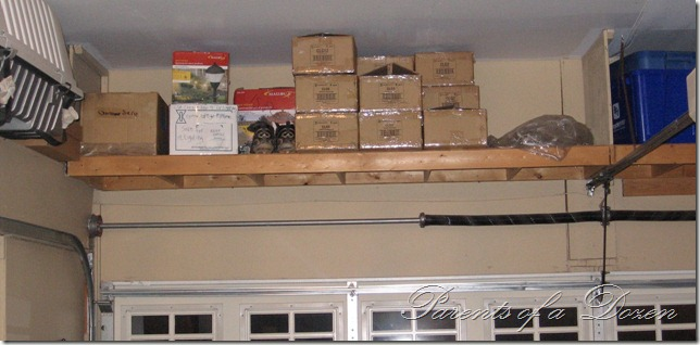 Parents of a Dozen Where to Add Extra Storage Spaces. Above Garage Door Storage